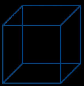 3D Cube Blue